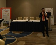 Hon'ble Minister, Mr. Chandramohan Patowary speaking at the Diaspora Connect event in Toronto, Canada