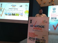 Hon'ble IT minister of Assam Shri.Keshab Mahanta addressing