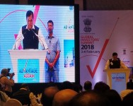 Hon'ble Chief Minister of Assam speaking at the roadshow in Mumbai