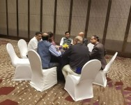 Sarbananda Sonowal holding a interactive discussion