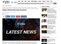 Assam CM Sonowal woos investors