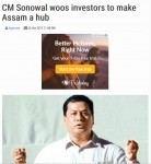 CM Sonowal woos investors to make Assam a hub